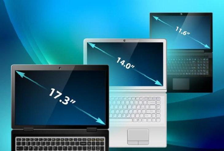 Диагональ экрана ноутбука