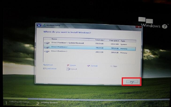 Установка Windows 7 на диск С
