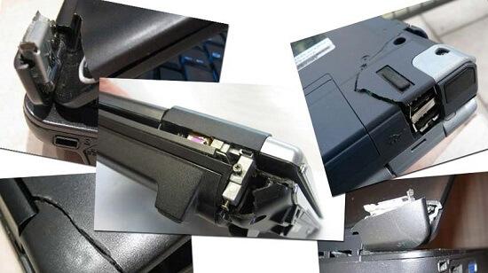 Ремонт корпуса ноутбука на дому